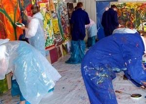Firmenjubiläum - Action Painting