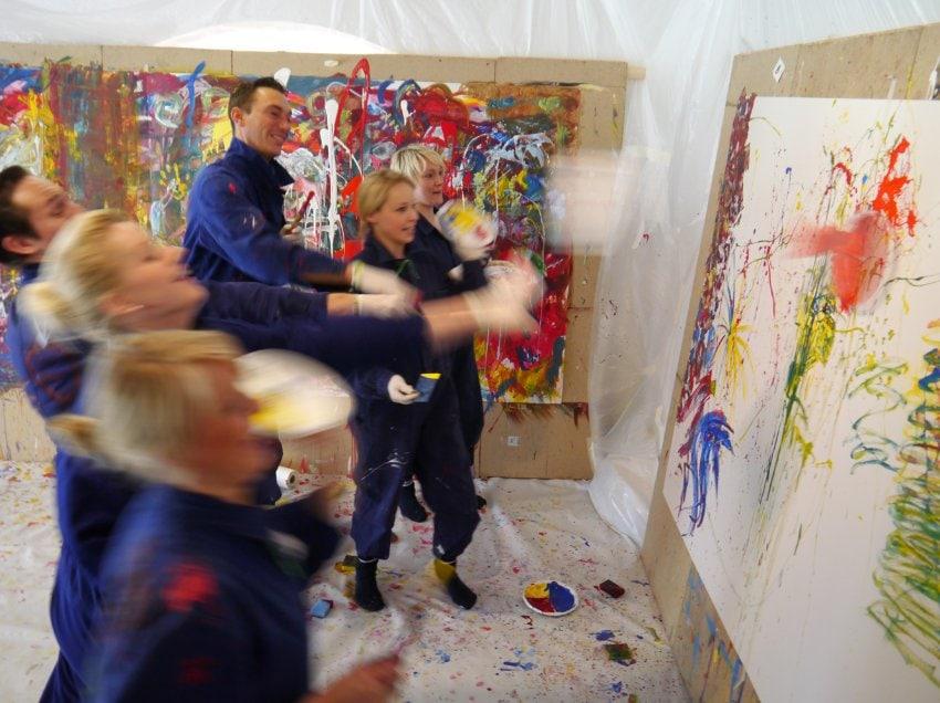 Actionpainting mit Etelka Kovacs-Koller
