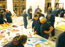 Teamevent München - kreative Malaktion