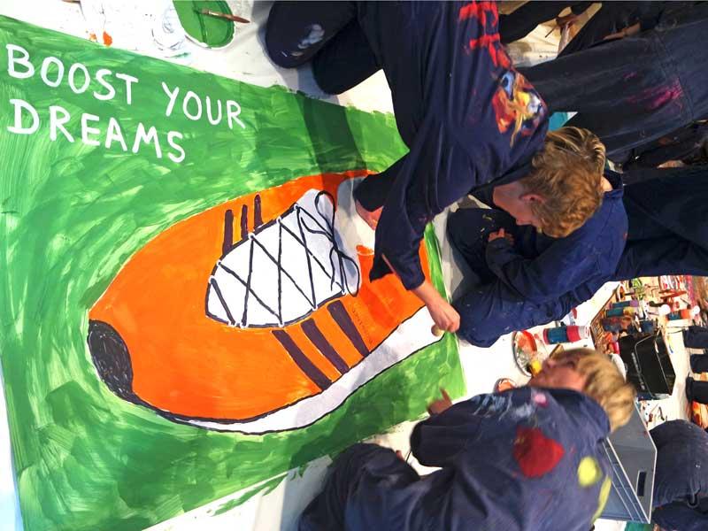 Teamaktivität München - Action Painting