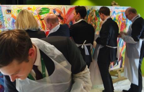 Event Painting mit Etelka Kovacs-Koller Leadership-Tag