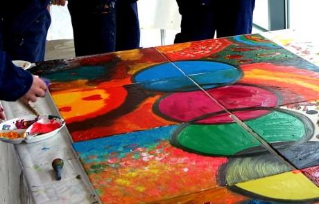 Mitarbeitertag Visionsentwicklung Teampainting im Horch Museum