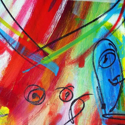 Bildausschnitt der Event Painting Leinwand - Ausgeschnitten für Teilnehmer