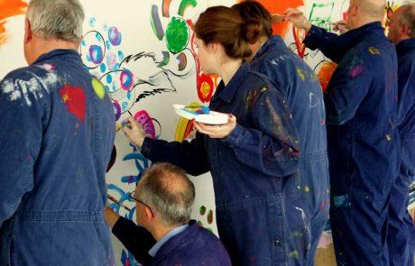 Firmenevent mit Action Painting als Hauptattraktion