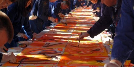 Leadership Painting - Creative Network Action