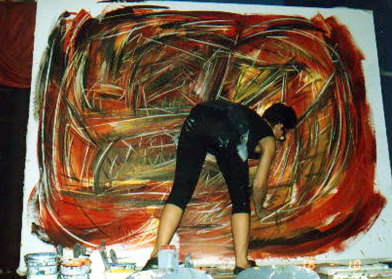 Etelka Kovacs-Koller Action Painter Live 1991