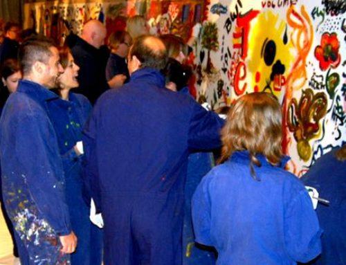 Tagungsaktivität Action Painting