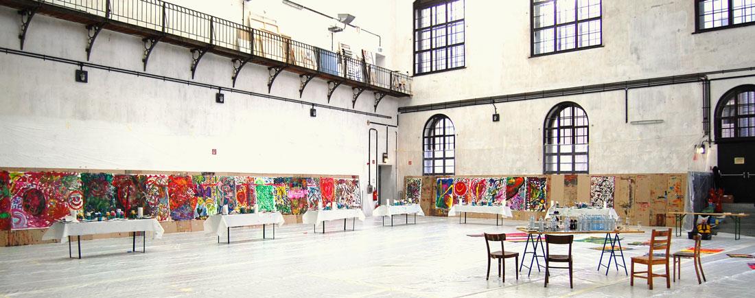 Backstage: Infos über kreative Teamevents und Action Painting Workshops