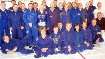 Ein Gruppenfoto nach dem Workshop gehört für viele zum Teamevent einfach dazu. Wann sieht man schon mal alle KollegInnen im Blaumann und dazu noch so glücklich?