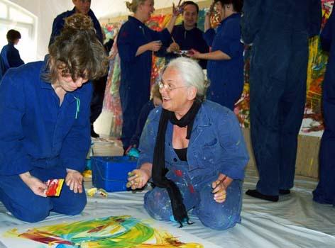 Etelka Kovacs-Koller mit Workshopteilnehmerin
