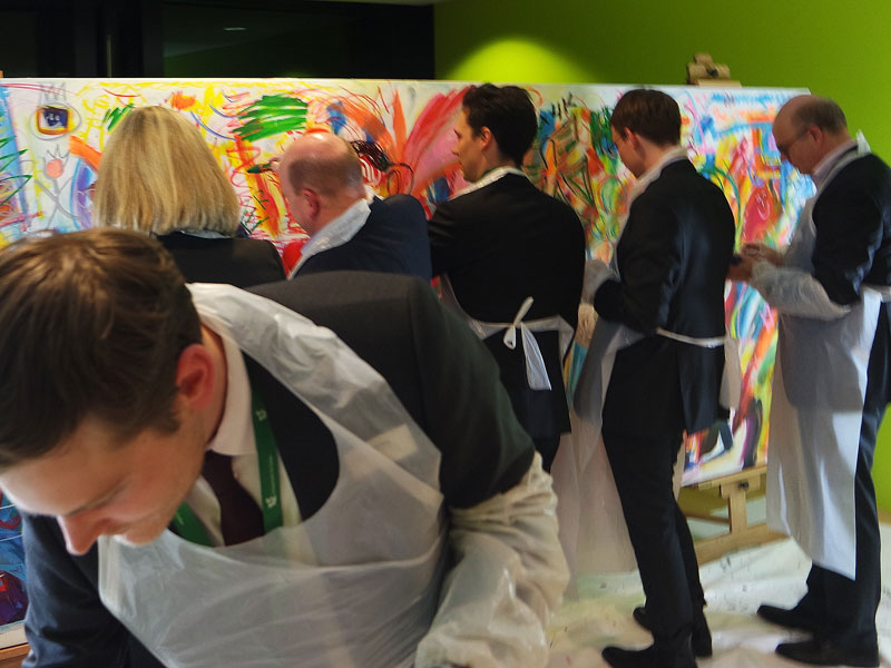 Event Painting mit Etelka Kovacs-Koller Leadership-Tag