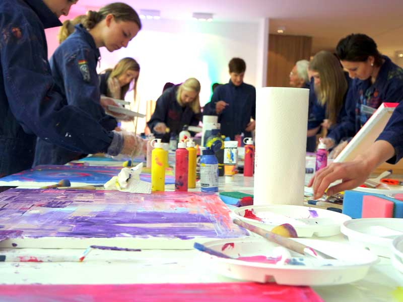 Action Painting Produktlaunch München