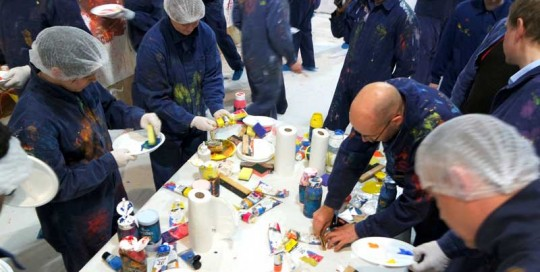 Innovationsteam Action Painting Workshop