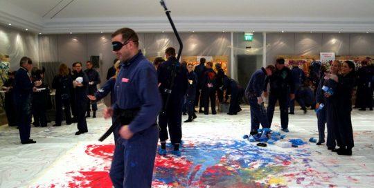 Kick Off Action Painting in Erlangen / Nürnberg
