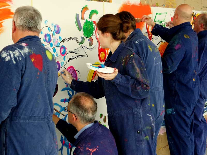 Firmenevent: Action Painting als Hauptattraktion