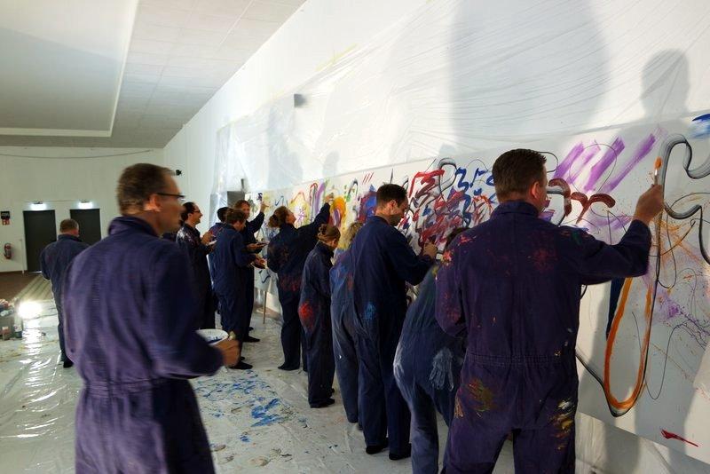 Teampainting: Zukunft mit KollegInnen malen - Visionen kreativ im Team entwickeln