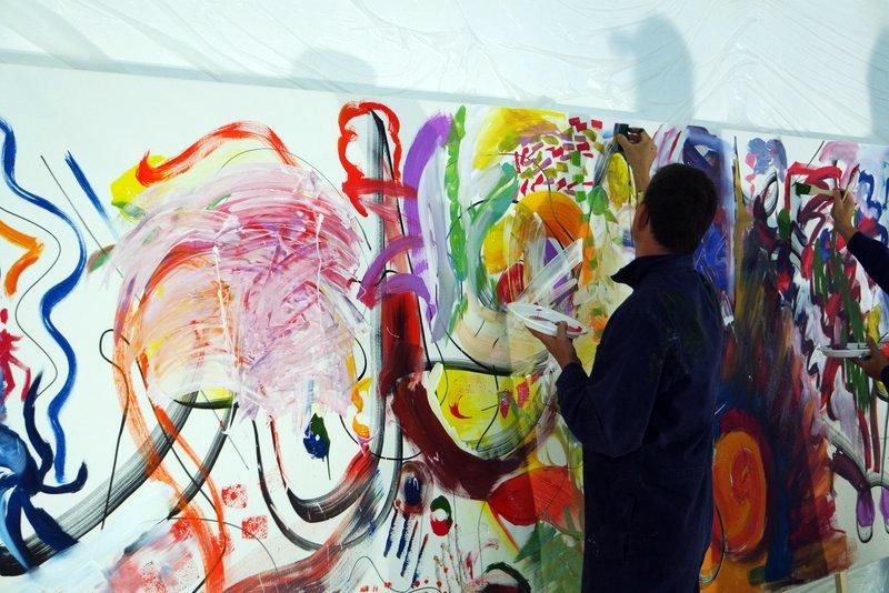 Teampainting: Zukunft gemeinsam malen - Visionen kreativ im Team entwickeln und in Farbe ausdrücken