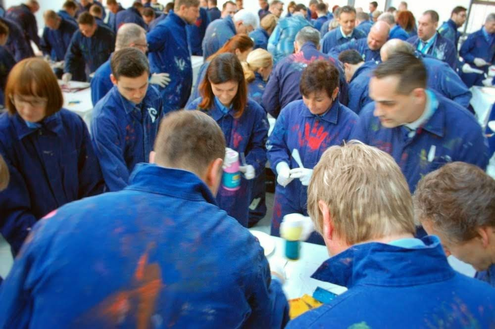 Teambuilding Action Painting Malaktion in Potsdam