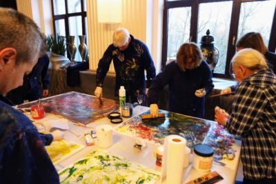 Teambuilding Action Painting Firmenworkshop in Mannheim