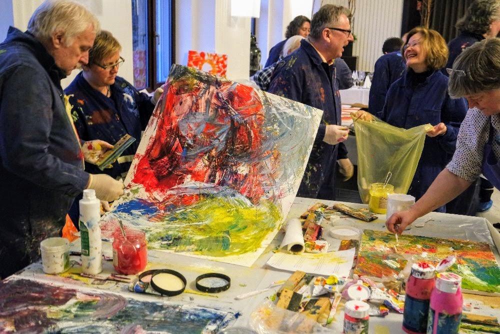 """Teambuilding Workshop"""" Farbe in Bewegung"""" in Mannheim"""