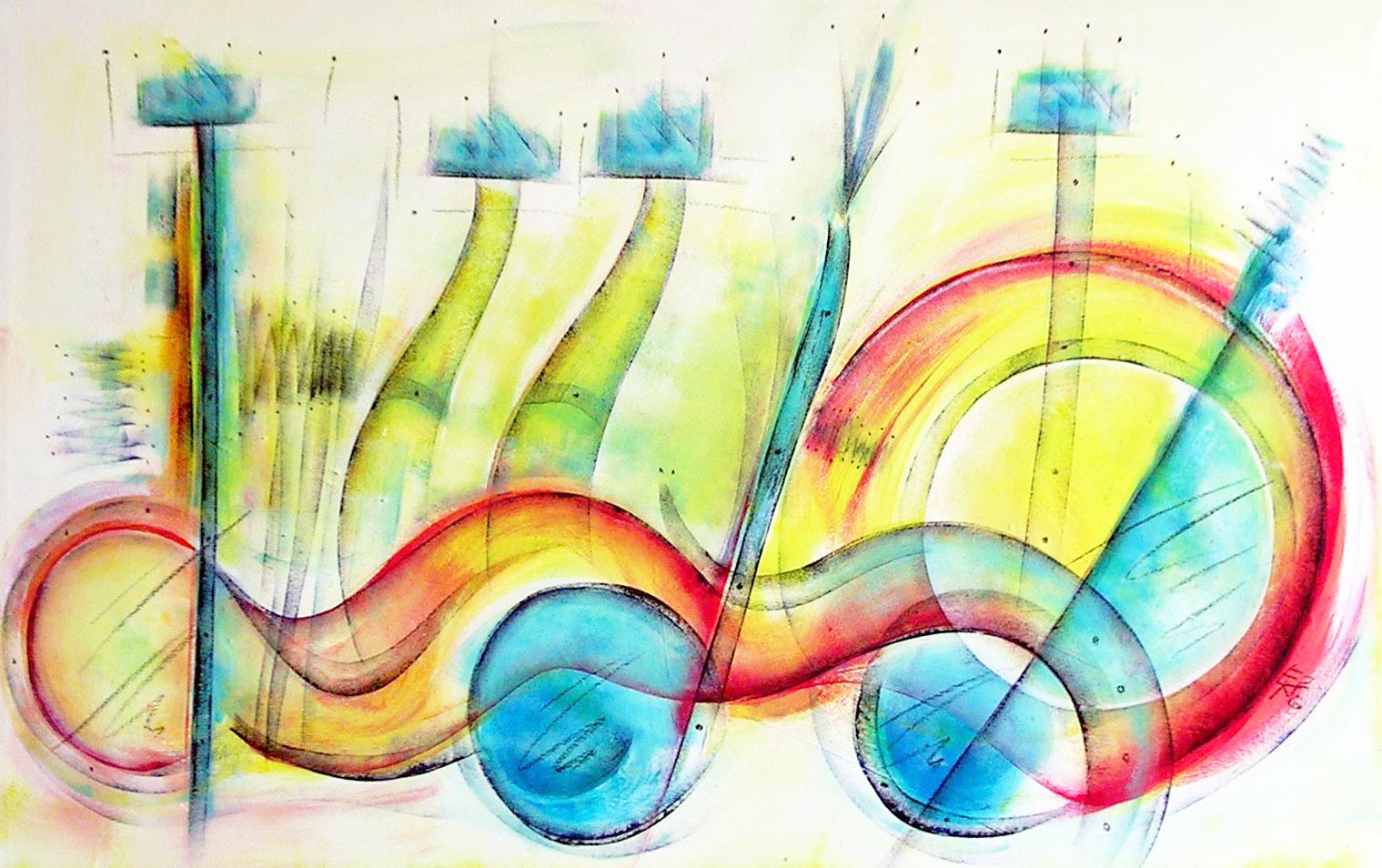 Etelka Kovacs-Koller - über Kreativität - Originalgemälde auf Leinwand