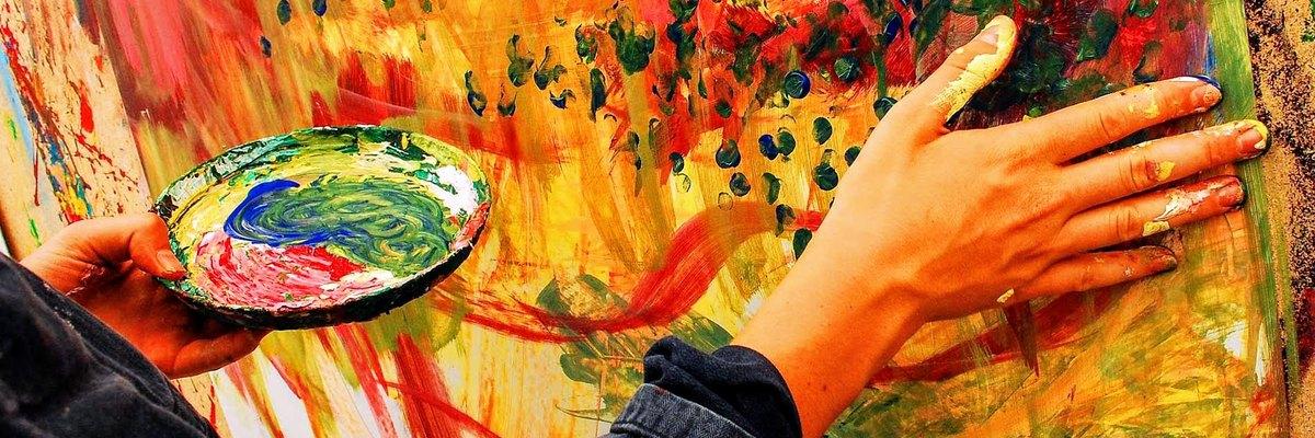 Action Painting malen ohne Vorgabe
