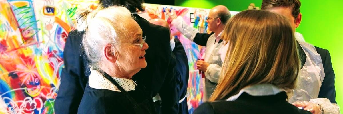 Event Painting während einer exklusiven Abendveranstaltung für Unternehmer