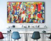 Original Kunst im Büro von Etelka Kovacs-Koller - Gemälde im Großformat
