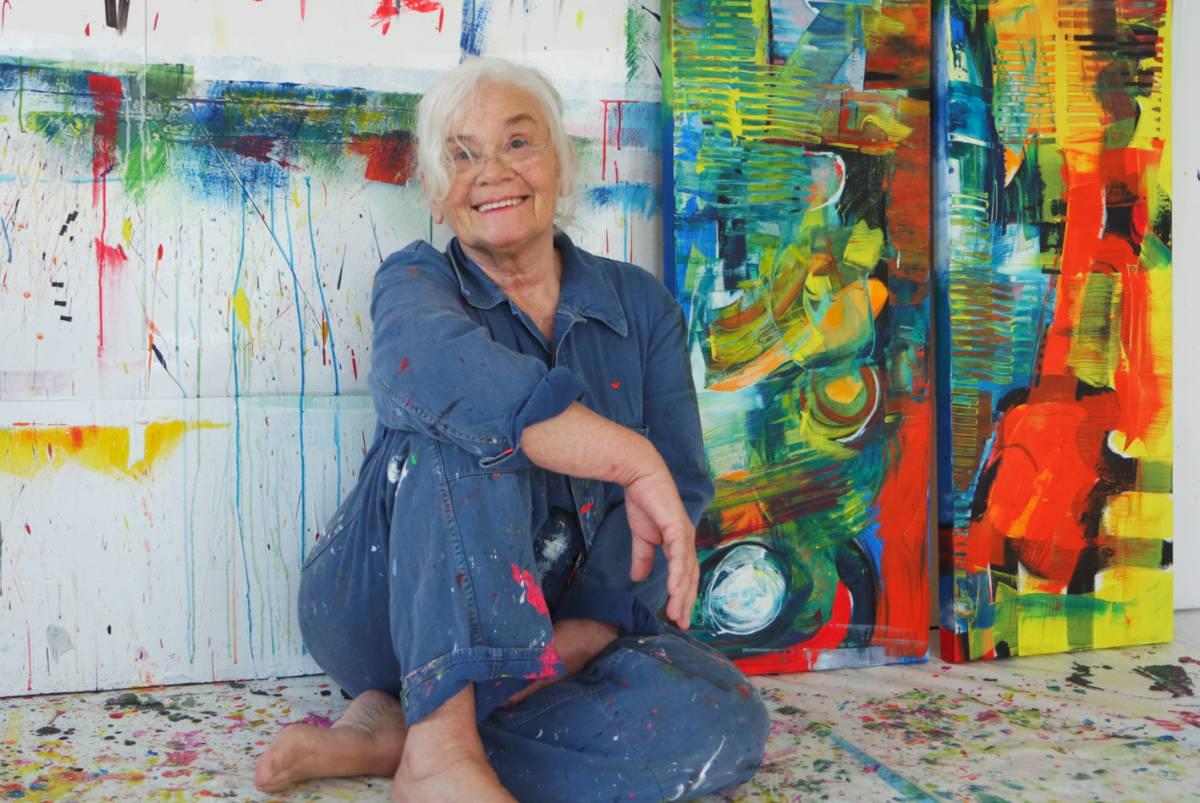 Etelka Kovacs-Koller im Atelier